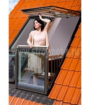 FAKRO Balkon okno FGH-V P2 Galeria 94x255 cm - Bezpečnostní sklo