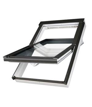 FAKRO kyvné plastové střešní okno PTP-V U5 06 - 78 x 118 cm energoúsporné trojsklo