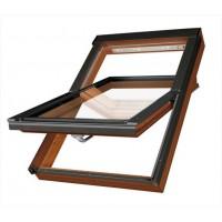 FAKRO kyvné plastové střešní okno PTP-V/GO U3 06 - 78 x 118 cm Zlatý Dub