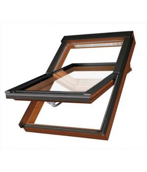 FAKRO kyvné plastové střešní okno PTP-V/GO U3 07 - 78 x 140 cm Zlatý Dub