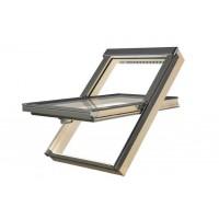 FAKRO kyvné plastové střešní okno PTP-V/PI U3 06 - 78 x 118 cm Borovice