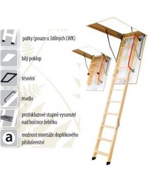 FAKRO LWK Komfort  280 70 x 100 cm 4-dílné Půdní schody