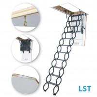 FAKRO LST 250-280 50 x 80 cm stahovací zateplené půdní schody