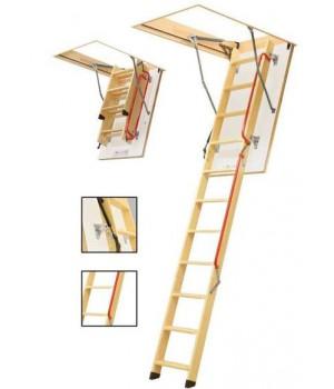 FAKRO LWL LUX - 280 3-dílné 70 x 120 cm půdní schody zateplené