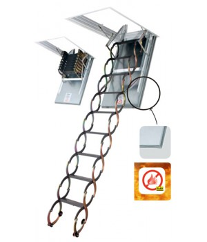 FAKRO LSF 280-300 60 x 90 cm protipožární stahovací půdní schody